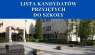 Listy osób przyjętych do szkoły